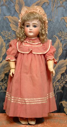 "Perfect Rare 19.5"" Kestner Doll XII Closed Mouth Antique German Bebe"