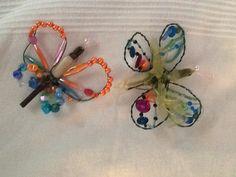Wire and peqrls for garden decoration