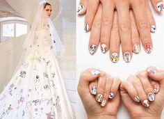 O céu não é o limite quando se trata de nail arts. As adeptas das unhas decoradas parecem tirar inspiração de tudo e nem o véu usado por Angelina Jolie no casamento escapou dessas garras afiadas...