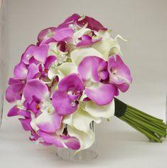 Tropicales ramo  destino boda ramo  tacto verdadero Bouquet