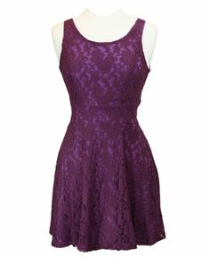 Lace Plum Dress Lucy with Scoop Neck www.daisyshoppe.com