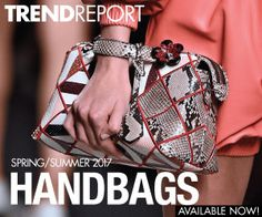 Looking to maximize jewelry trends in your designs or store? Accessories Magazine's Directions trend forecasting service offers capsulized handbag information tailored to your needs. After analyzing thousands of earrings, necklaces, bracelets, rings and more on the international runways, we've compiled the images into clear, concise, must-have trends. Each offers an at-a-glimpse overview of the season's must-haves, featuring the key trends, key details, silhouettes, motifs and materials. For…
