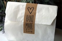 Handmade With Love Stickers Handmade With Love by TrocaderoKraft Craft Packaging, Cookie Packaging, Food Packaging Design, Packaging Design Inspiration, Box Packaging, Creperia Ideas, Gift Wraping, Love Stickers, Painting For Kids