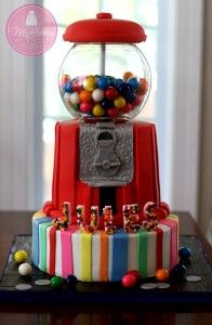 Gumball Machine Cake Mini-tutorial - McGreevy Cakes