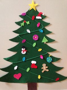 Felt Christmas tree by CreativityCustomized on Etsy
