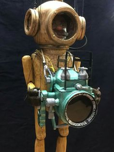 Deep sea diver marionette by Truhlar Marionety