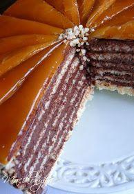 Macikonyha: Dobostorta Hungarian Cuisine, Hungarian Recipes, Hungarian Cake, European Dishes, Vegan Challenge, Vegan Curry, Vegan Meal Prep, Vegan Thanksgiving, Vegan Kitchen