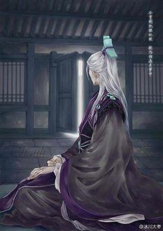 Fantasy Art Men, Fantasy World, Ancient Art, Ancient China, Yuki Onna, Lotus, Chinese Drawings, Fantasy Drawings, Realistic Paintings