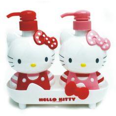 Hello Kitty Bath Shampoo Dispenser Bottle Set RS0084 | eBay