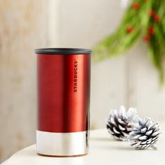 Stainless Steel At Home Holiday Mug - Red, 8 fl oz. $16.95 at StarbucksStore.com