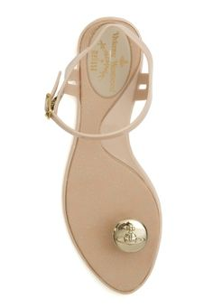 nude button sandal by Vivienne Westwood