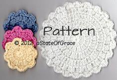 Flower Facial Scrubbie and Washcloth Crochet PATTERN   Etsy