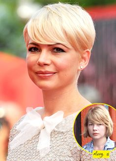 I love Michelle Williams. She's pretty without being pretty....if that makes sense. She's old hollywood wrapped up in a box with a bow. AND I wish I could pull off her hair cut. If I could, my hair would look like this always