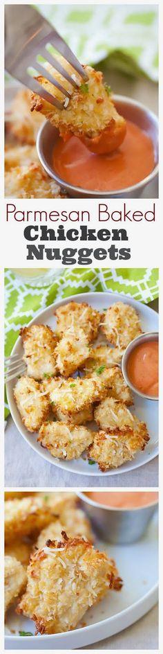 Parmesan Baked Chicken Nuggets  #casserole #potatoes #recipe
