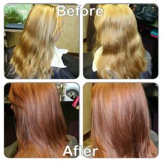 Fall color change! 4parts Kenra 7BC 1part 8N+10vol. | Kenra Color. Kenra Professional.Hair Color
