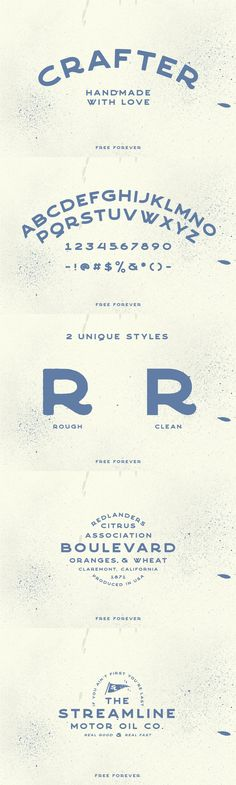 Crafter is a free versatile handmade sans-serif font from 1871 Project! It takes inspiration from vintage metal signs as well as sign painters, and its perfect for your next project! Logo Design, Graphic Design Typography, Vintage Typography, Vector Design, Design Design, Vintage Branding, Identity Design, Brand Identity, Typography Letters