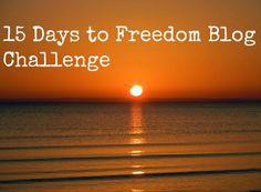 15 days freedom blog challenge