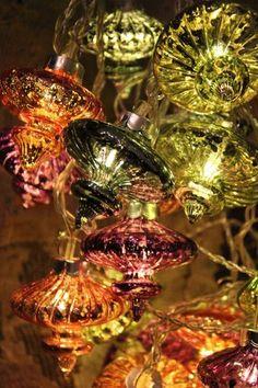 Kasbah Fairy Lights 20 Led Indoor Moroccan Glass Lanterns