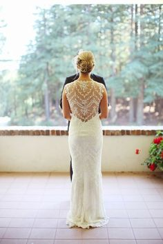 """The back was one of my favorite parts since it felt seductive without feeling overtly sexual,"" said Schuman, who tied the knot at Ralston White Retreat in Mill Valley, California on April 14.Check out more gorgeous styles in our Claire Pettibone gown gallery!Photo Credit: Max Wanger Photography"
