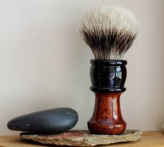 Exotic Wood Shaving Brush - Hand-Made with Water Proofed Burmese Rosewood  and…