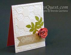 Spiral Flower Card   Perfectly Penned, Woodgrain, Spiral Flower Die, Secret Garden, Banners Framelits, Hexagon Hive, Decorative Dots, Stampin' Up