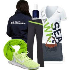 Women's Seahawks Gameday with New Nike V-Neck