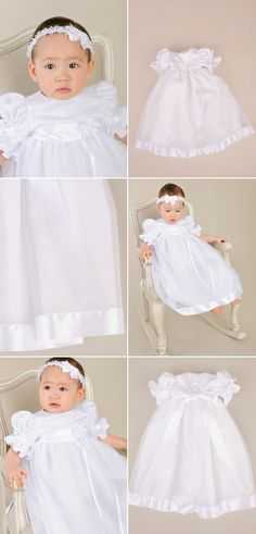 bbf533e00 Sweet and feminine, the Clarice is as sweet as they come. Christening Gowns  For. One Small Child