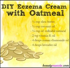 Dry itchy and inflamed eczema patches can hurt pretty bad. That's why you need something soothing like oatmeal to calm the irritated skin. Enter this DIY Eczema Cream with Oatmeal! It contains colloidal oatmeal, which is oatmeal that's grinded to fine pow Natural Beauty Tips, Natural Skin Care, Diy Savon, Belleza Diy, Eczema Remedies, Snoring Remedies, Allergy Remedies, Natural Remedies, Chamomile Oil