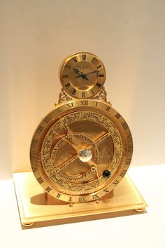 'Astrolabium' Clock  :  Hour Lavigne. Gilt bronze. France   c1959