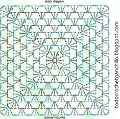 Patrón punto de abuelita crochet