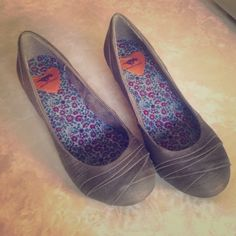 Rocket Dog shoes Grey. Only worn a few times. Kitten wedge heel. In great condition. Rocket Dog Shoes Wedges