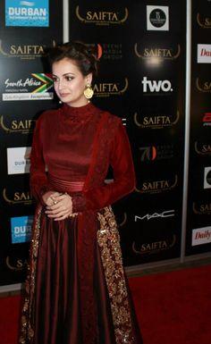 Dia Mirza at SAIFTA Awards 2013 #Bollywood #Fashion #Style