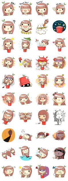 craritas chibis creditos al creador Kawaii Faces, Kawaii Chibi, Kawaii Art, Anime Chibi, Kawaii Drawings, Cartoon Drawings, Cartoon Art, Cute Drawings, Kawaii Stickers