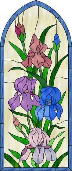 Iris Arch Decorative Window Film