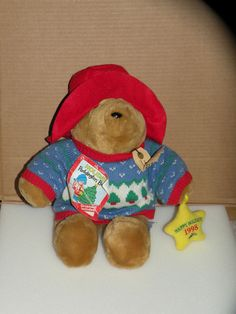 Vintage Plush Paddington Holiday Ornament Bear 1998 Sears Exclusive Kids Gifts #PaddingtonCoLtdExclusivelyforSears #Holiday