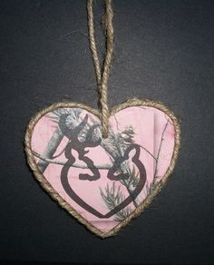 Pink Camo wood ornament with Browning by LockedNLoadedJewelry, $6.00