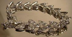 Art Deco 1930s Rhinestone Bracelet Flashy by FionaKennyAntiques