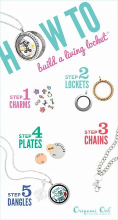 How to build your own Living Locket | Origami Owl - Independent Designer - Tiffany Elzey | Shop Online tiffanyelzey.origamiowl.com