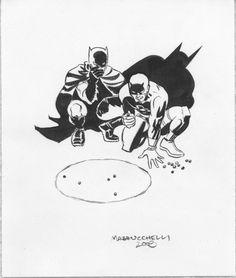 Batman and Daredevil by David Mazzucchelli