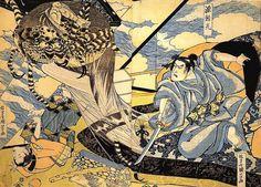 +ukiyoe tsuchigumo | Tsuchigumo e Yorimitsu, da Utagawa Kuniyoshi 歌川国芳