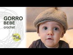 SOMBRERO TIPO BOINA PARA BEBÉ PASO A PASO CON VÍDEO TUTORIAL | Patrones Crochet, Manualidades y Reciclado