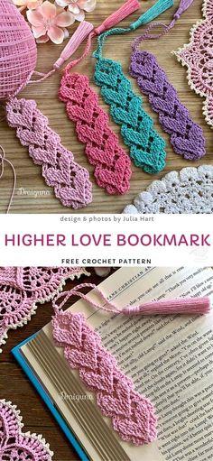 Crochet ideas 223280094013388095 - Higher Love Bookmark Free Crochet Pattern Source by monijo Crochet Gifts, Free Crochet, Knit Crochet, Crochet Books, Easy Knitting Projects, Crochet Projects, Crochet Designs, Crochet Patterns, Crochet Bookmark Patterns Free