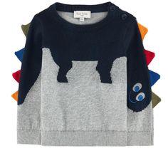 Cashmere trompe-l'œil sweater