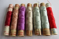VINTAGE EMBROIDERY SEWING SILKS PERIVALE & GUTERMANN 7 REELS #PerivaleGutermann noelhumphrey on eBay.co.uk