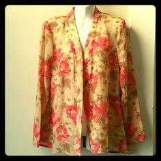 VINTAGE Floral Robe/Kimono SZ L Adorable Floral Robe to dress up or down! Vintage Intimates & Sleepwear Robes