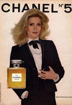 Catherine Deneuve for Chanel no 5