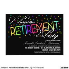 how to word a retirement party invitation