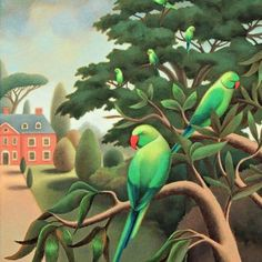 Antoinette Kelly - In Surrey's Gardens. - Artists & Illustrators - Original art for sale direct from the artist Original Art For Sale, Selling Art, Acrylic Painting Canvas, Art Auction, Bird Art, Artist At Work, Original Paintings, Bird Paintings, Illustrators
