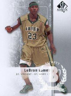 2011-12 Upper Deck SP Authentic Basketball #2 LeBron James St. Vincent-St. Mary Fighting Irish NCAA Trading Card by SP Authentic. $3.00. 2011 Upper Deck Co. trading card in near mint/mint condition, authenticated by UpperDeck