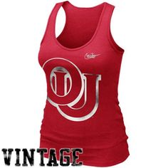 Nike Oklahoma Sooners Ladies Retro Rib Tank Top - Crimson